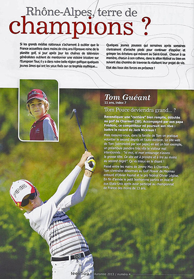 Golf Tom Gueant Tee Mag