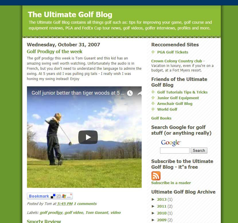 Ultimate Golf Blog